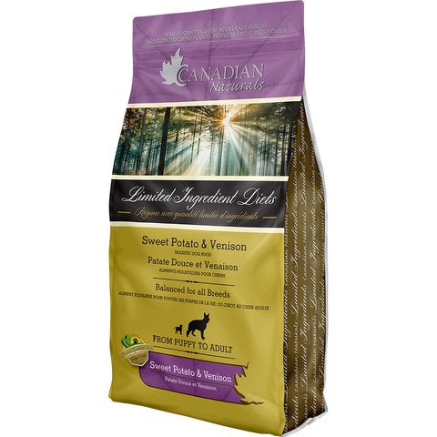 Canadian Naturals Grain Free Venison & Sweet Potato for Dogs 25LB