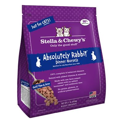 Stella & Chewy's Absolutely Rabbit Dinner Morsels for cats 1lb.