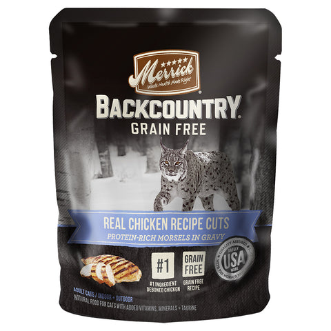 Merrick Backcountry Real Chicken Cuts 24 x 3 oz pouches