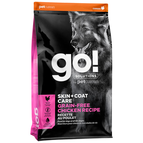 GO! Solutions GRAIN-FREE SKIN + COAT Chicken Recipe - 25 lbs