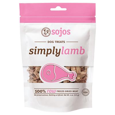 Sojos Simply Lamb treats for dogs 4OZ