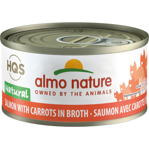 Almo Nature Complete HQS Salmon Recipe with Carrots 24 x 70 gram cans