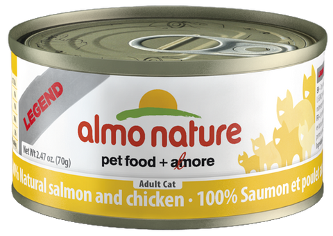 Almo Nature 100% Natural Salmon with Chicken 24 x 70g