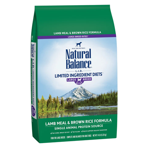 Natural Balance Lamb Meal & Brown Rice Large Breed Bites' Dry Dog Formula