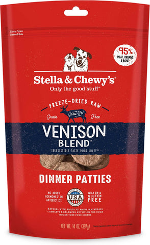 Stella& Chewy's Venison Blend Dandy Dinner 3 lbs of 1.5 oz patties