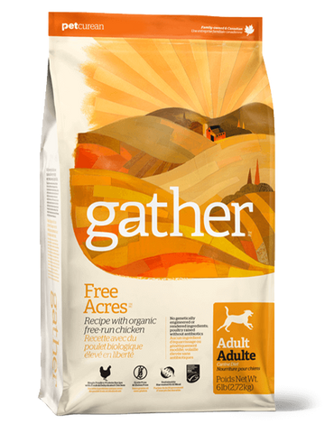 Gather Free Acres - Organic Free-run Chicken recipe for Adult Dogs  16 lbs.
