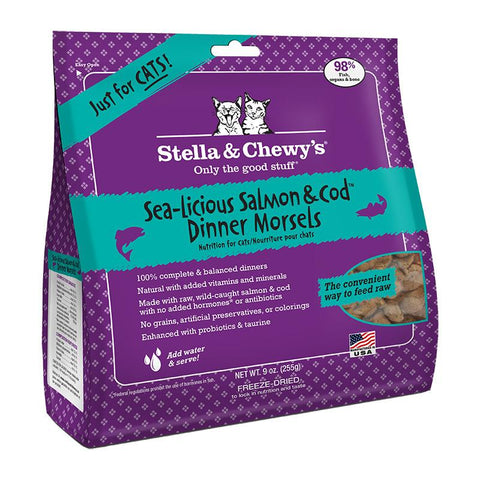 Stella & Chewy's Sea-Licious Salmon & Cod Freeze-Dried 9 oz.