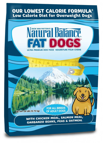Natural Balance Fat Dogs Low Calorie Dry Dog Formula  28lb bag - Naturally Urban Pet Food Delivery