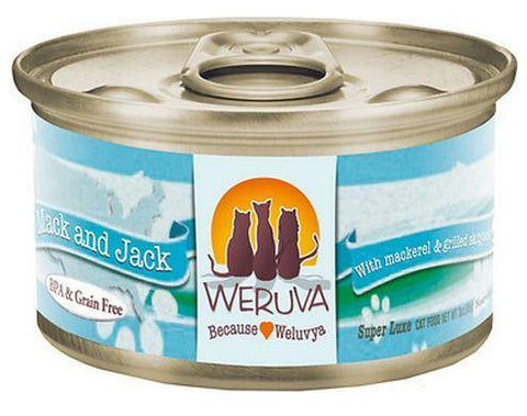 Weruva Mack and Jack ' With Mackerel and Grilled Skipjack 24 x 5oz Cans