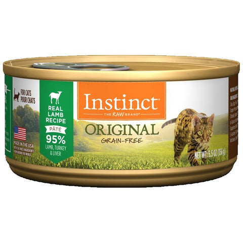 Instinct Grass-Fed  Lamb Recipe for cats 12/156g.