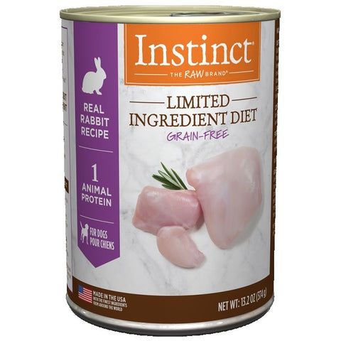 Instinct Limited Ingredient Diet Rabbit 6 x 13.2 oz cans for Dogs