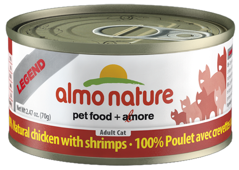 Almo Nature 100% Natural Chicken with Shrimps 24 x 70g - Naturally Urban Pet Food Delivery
