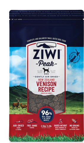 ZiwiPeak Air Dried Venison - Naturally Urban Pet Food Delivery