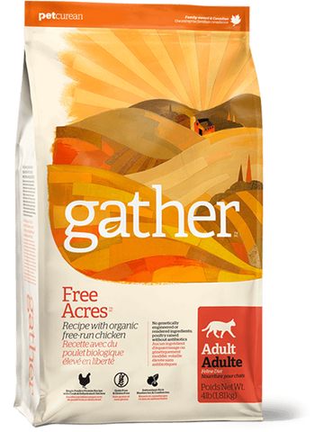 Gather - Free Acres -  Organic Free-Run Chicken Recipe for Adult Cats 8 lbs.