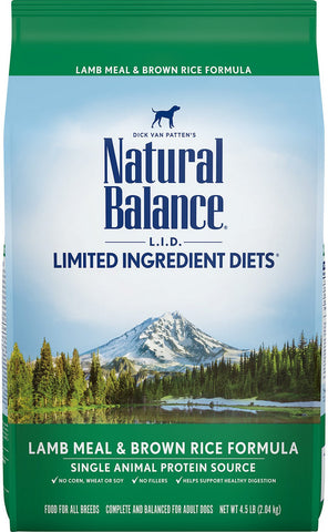 Natural Balance Lamb Meal & Brown Rice Dry Dog Formula 26 lbs.