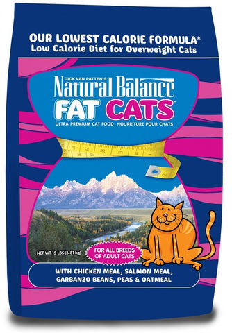 Natural Balance Fat Cats Low Calorie Dry Cat Formula  15 lbs. bag