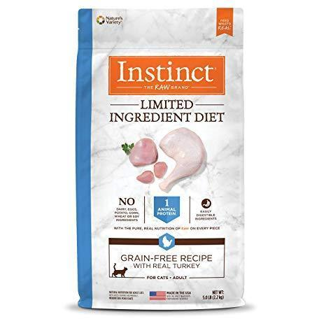 Nature's Variety Instinct Grain-Free Kibble Limited Ingredients for Cats Diet Turkey Meal Formula 12.1 lbs. bag