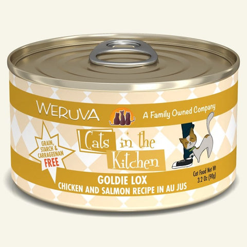 Weruva Cats in the Kitchen Goldie Lox Chicken and Salmon Au Jus 24 x 6 oz. cans