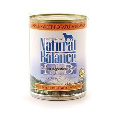 Natural Balance L.I.D. Sweet Potato and Fish Canned Dog Formula 12 x 13 oz. cans
