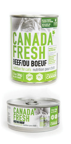 PetKind Canada Fresh Nutrition For Cats Beef Formula 12 x 13oz cans