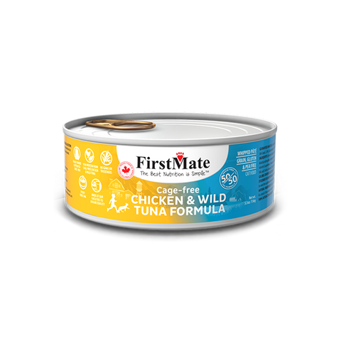 FirstMate's 50/50 Chicken and Wild Tuna for Cats 24 x5.5 oz.
