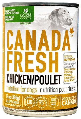 Canada Fresh Nutrition Chicken Formula for Dogs 12 x 13oz cans
