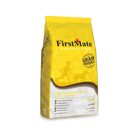 FirstMate's Grain Friendly Cage Free Chicken Meal and Oats Formula 25 lbs