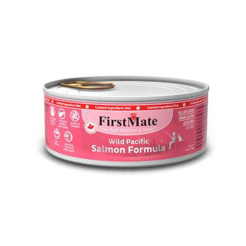 FirstMate's Can Wild Salmon for Cats 24 x5.5 oz.