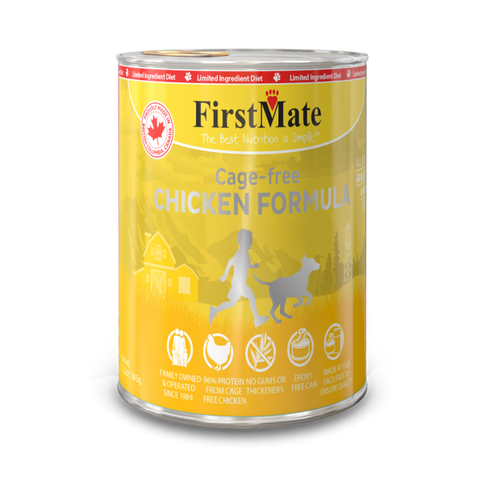 FirstMate's Can Free-Run Chicken for Dogs or Cats 12 x12.5 oz. - Naturally Urban Pet Food Delivery