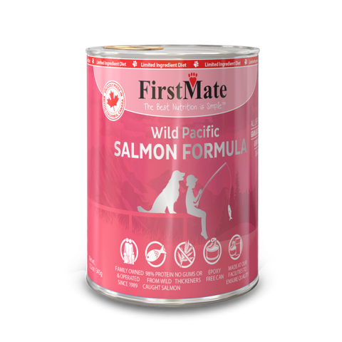 FirstMate's Can Wild Salmon for Dogs or Cats 12 x12.5 oz.