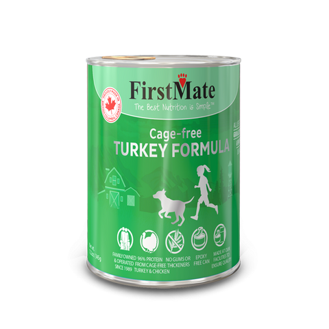 FirstMate's Can Free-Run Turkey for Dogs or Cats 12 x12.5 oz.