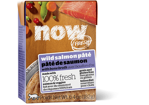 NOW FRESH Grain Free Wild Salmon Pate with Bone Broth 24 x 6.4 oz -