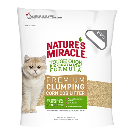 Nature's Miracle Premium Clumping Corn Cob Litter 18LB (please purchase two bags or another product)