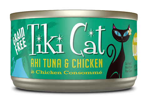 Tiki Cat  Hookena Luau Ahi Tuna & Chicken 8 x 6oz cans