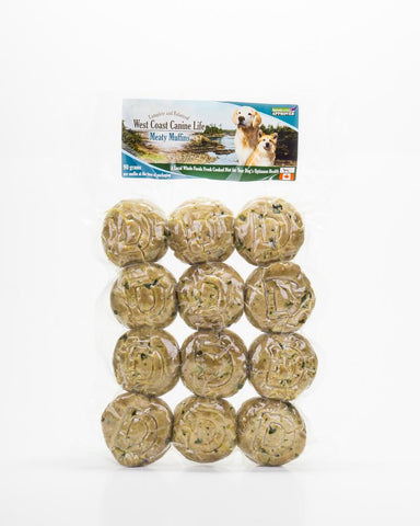 West Coast Canine Life Duck Muffins (Frozen) 12 pack