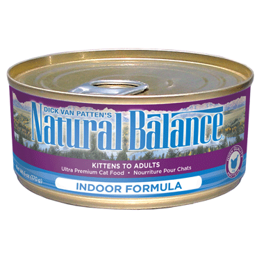 Natural Balance Ultra Premium Indoor Canned Cat Formula 24 x 5.5 oz. cans