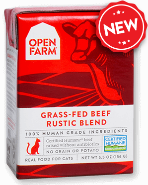 Open Farm Grass-Fed Beef for Cats 12 x 5.5 oz Tetra Packs