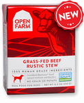 Open Farm Harvest Grass-Fed Beef Rustic Stew for Dogs 12 x 12.5 oz Tetra Packs