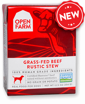 Open Farm Harvest Grass-Fed Beef Rustic Stew for Dogs 12 x 12.5 oz Tetra Packs - Naturally Urban Pet Food Delivery