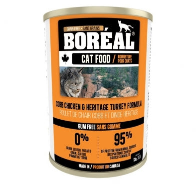 Boreal  Cobb Chicken, Heritage Turkey 12 x 14 oz. cans