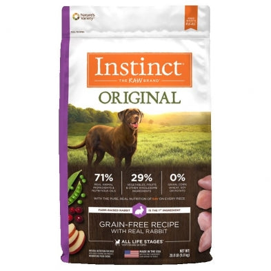 Nature's Variety Instinct Grain-Free   Rabbit Meal Formula for Dogs  20 lbs. bag