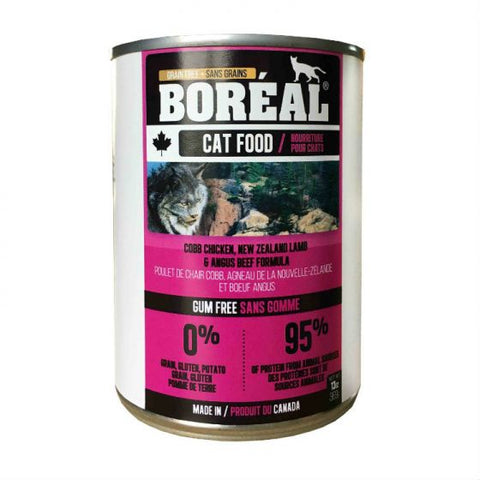 Boreal  Cobb Chicken, New Zealand Lamb and Angus Beef12 x 14 oz. cans