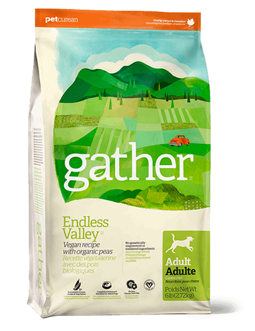 Gather Endless Valley Vegan  recipe for Adult Dogs  16 lbs.