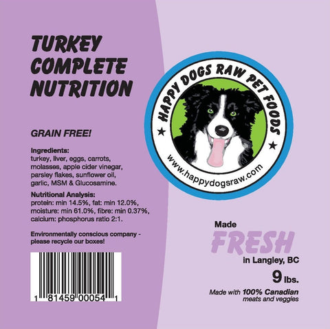 Happy Dogs Turkey Complete Nutrition Blend