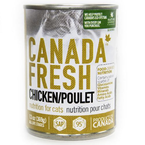 Canada Fresh Nutrition Chicken Formula for cats 12 x 13 oz cans