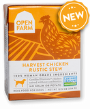 Open Farm Harvest Chicken Rustic Stew for Dogs 12 x 12.5 oz Tetra Packs