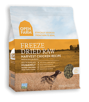 Open Farm Harvest Chicken Freeze Dried Raw Dog Food 13.5 oz