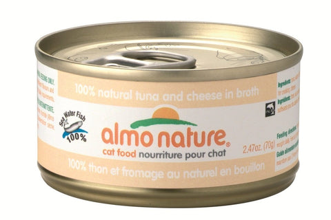 Almo Nature Cat Tuna/Cheese In Broth 24 cans of 70 grams