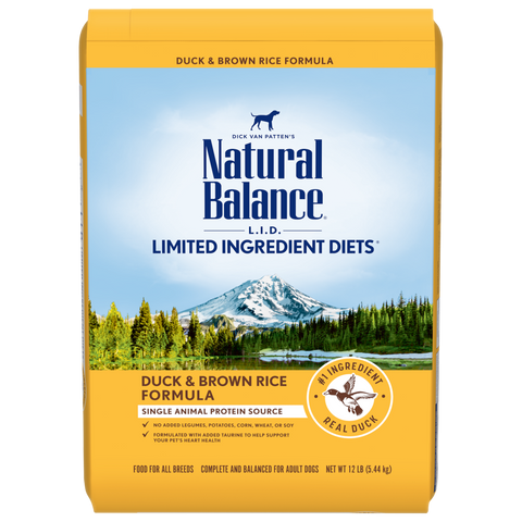 Natural Balance  Limited Ingredient Diets Potato & Duck Dry Dog Formula  24 lbs. bag