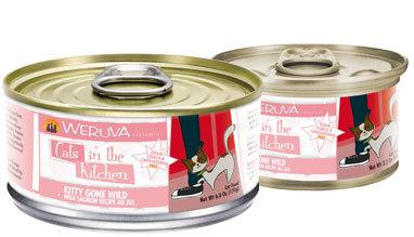 Weruva Cats in the Kitchen Kitty Gone Wild ' Wild Salmon Recipe Au Jus 24 x 6 oz. cans